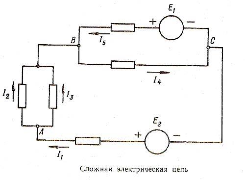 закона Кирхгофа для узлов