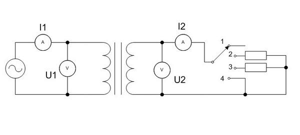 анализ работы трансформатора
