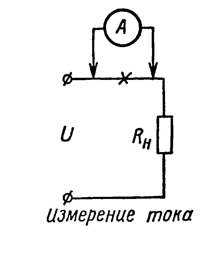 При измерении постоянного напряжения один щуп авометра подключается к общему проводу, а второй - к точкам в схеме...