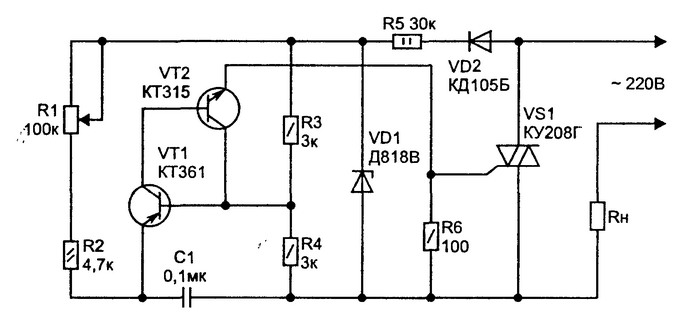 схема регулятора мощности - Схемы.